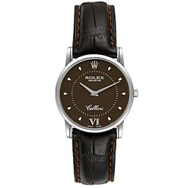 Rolex Cellini Classic White Gold Brown Dial Watch 5116