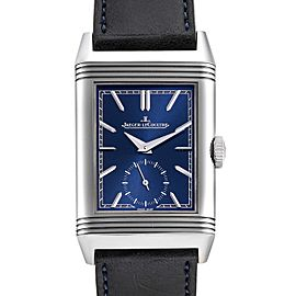 Jaeger LeCoultre Reverso Tribute Mens Watch 214.8.62 Q3808420 Box Papers