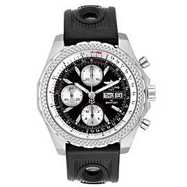 Breitling Bentley GT Black Dial Rubber Strap Steel Mens Watch A13363