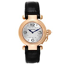 Cartier Pasha 32 Rose Gold Diamond Automatic Ladies Watch WJ11913G