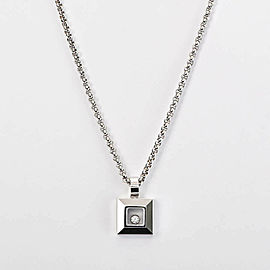 Chopard 18k white gold Diamond Happy Necklace