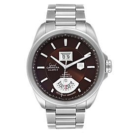 Tag Heuer Grand Carrera Grand Date GMT Brown Dial Mens Watch WAV5113