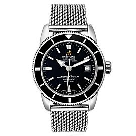 Breitling Superocean Heritage 42 Mesh Bracelet Watch A17321 Box Papers