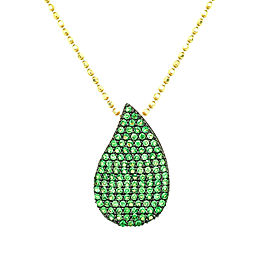 Phillips House N220MTSY 14k Yellow Gold Tsavorite Pendant