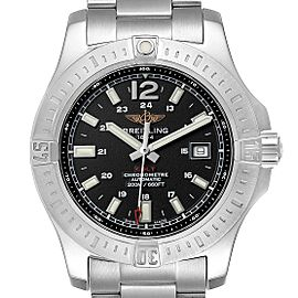 Breitling Colt Black Dial Automatic Steel Mens Watch A17388 Box