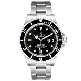 Rolex Submariner Spider Dial Steel Vintage Mens Watch 168000