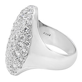 18K White Gold Diamond Ring Size 6