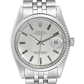 Rolex Datejust Steel White Gold Sigma Dial Vintage Mens Watch 1601