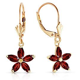 2.8 CTW 14K Solid Gold Starglow Garnet Earrings