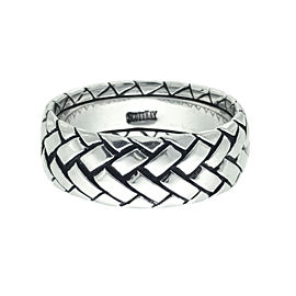 Scott Kay Basket Weave 19K White Gold Ring Size 11
