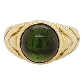 Bulgari Green Tourmaline 18 Karat Gold Ring