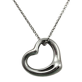 Tiffany & Co.Sterling Silver Open Heart Pendant Necklace