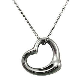 Tiffany & Co.Sterling Silver Open Heart Pendant Necklace