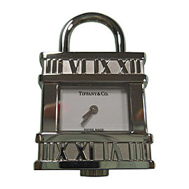 Tiffany & Co. Atlas Padlock Stainless Steel Swiss Watch Pendant