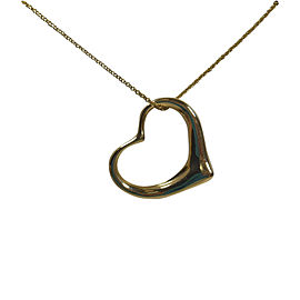 Tiffany & Co. Peretti 18K Yellow Gold Open Heart Necklace