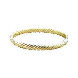 David Yurman 18K Yellow Gold Unique Cable Classic Bangle Bracelet