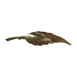 Tiffany & Co. 14K Yellow Gold Leaf Feather Brooch Pin