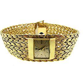 Rolex Precision Swiss 18K Yellow Gold Square Womens Watch