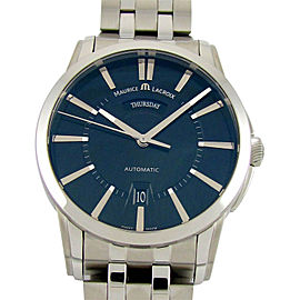 Maurice Lacroix Pontos PT6158-SS002-33E-1 Day/Date Black 40mm Mens Watch