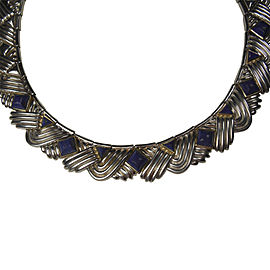 Tiffany & Co. Sterling Silver Lapis Lazuli Necklace