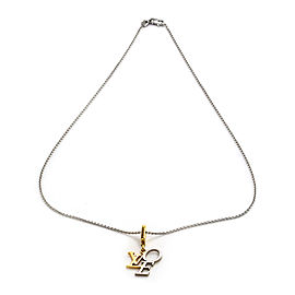 Louis Vuitton 18k Yellow and White Gold Love Necklace