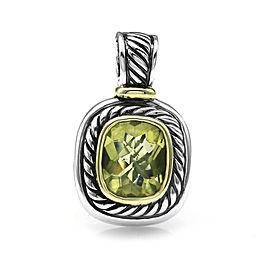 David Yurman Albion Sterling Silver Gold Prasiolite Pendant