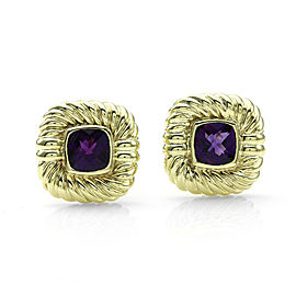 David Yurman 14K Yellow Gold Amethyst Earrings