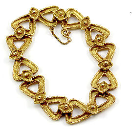 Boucheron 18K Yellow Gold Triangle Link Bracelet