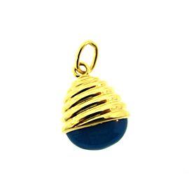 Pomellato 18K Yellow Gold & Blue Chalcedony Pendant Charm
