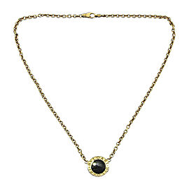 Bulgari 18K Yellow Gold & Onyx Necklace