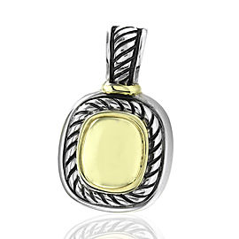 David Yurman 925 Sterling Silver and 14K Yellow Gold Albion Pendant Enhancer