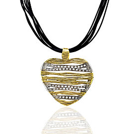 Roberto Coin Elephantino 18K Yellow & White Gold Diamond Heart Necklace