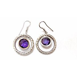 Charles Krypell .925 Sterling Silver & 18K White Gold Amethyst Chandelier Earrings