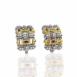 Roberto Coin Barocco 18K White & Yellow Gold with 0.56ct Diamond Earrings