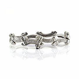 Philippe Charriol 18K White Gold & Diamond Bracelet