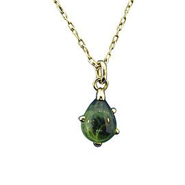 Pomellato 18K Yellow Gold Green Peridot Necklace