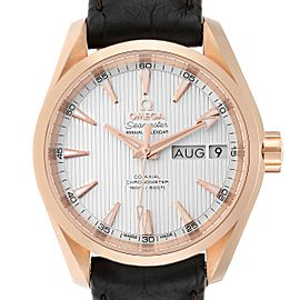 Omega Aqua Terra Annual Calendar Rose Gold Watch 231.53.39.22.02.001 Unworn