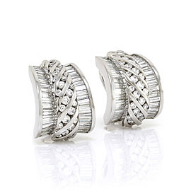 Charles Krypell Platinum with 8.00ct Diamond Hoop Earrings