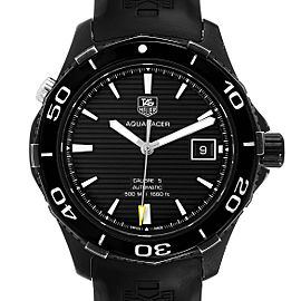 Tag Heuer Aquaracer 500 Black Dial Titanium Mens Watch WAK2180
