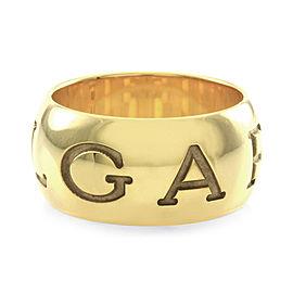 Bulgari Monologo 18K Yellow Gold Band Ring Size 6.25
