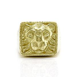 David Webb 18K Yellow Gold Ancient World Lion Ring Size 9.75