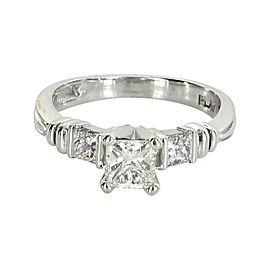 Scott Kay Platinum Three Stone 1.20ct. Diamond Ring Size 5.75