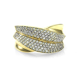 Sonia B. 14K Yellow Gold Pave Diamond Ring Size 6