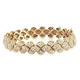 14K Rose Gold 5.00ct. Pavé Diamond Link Bracelet