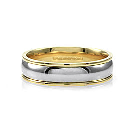 18K Yellow Gold & Platinum Ring Size 11.25