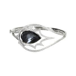 Stephen Webster 18K White Gold Diamond and Hematite Cuff Bracelet