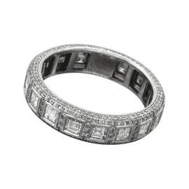 Jacob & Co. 18K White Gold 3.57ct Diamond Ring Size 9.50