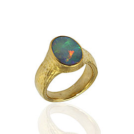 Gurhan 24K Yellow Gold & Opal Ring Size 9.5