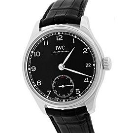 IWC Portuguese IW510202 5102 Stainless Steel / Leather 43mm Mens Watch