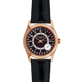 Patek Philippe Calatrava 6000R 18K Rose Gold 37mm Mens Watch